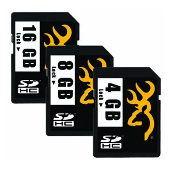 Browning branded SD cards